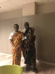 Father and son Kente weavers, Kofi and Kwasi Asare.